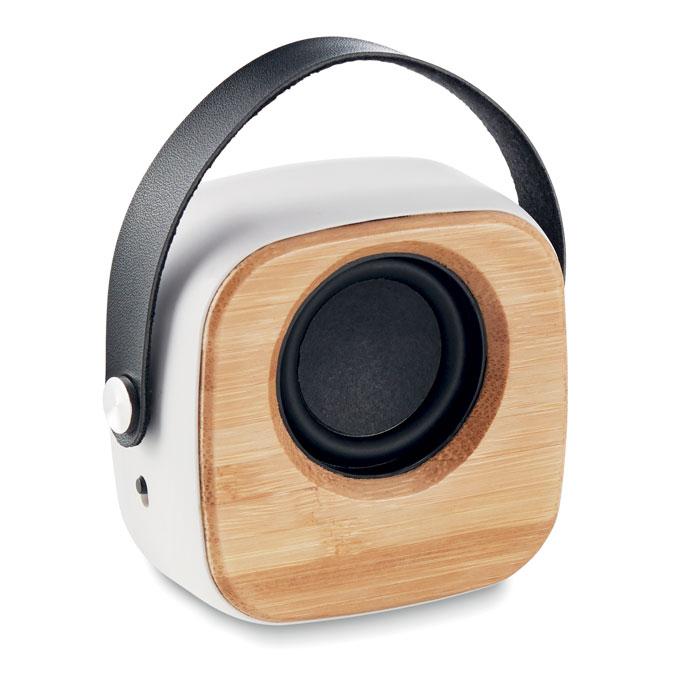 MO9806-06<br> Boxa de 3W cu fața de bambus