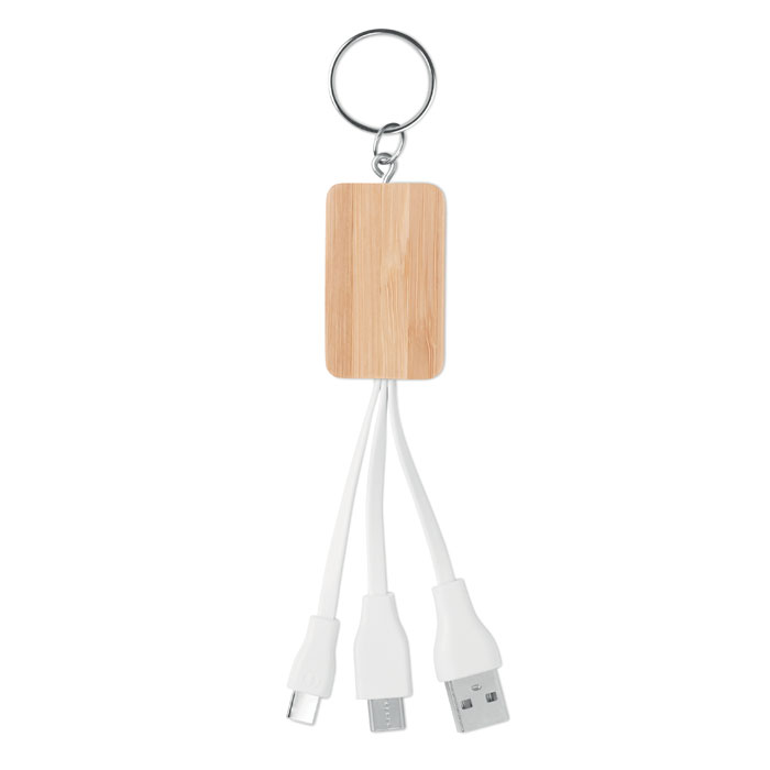 MO9888-40<br> Cablu 3 in 1 din bambus