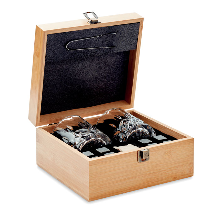 MO9941-40<br> Set pt whisky in cutie bambus