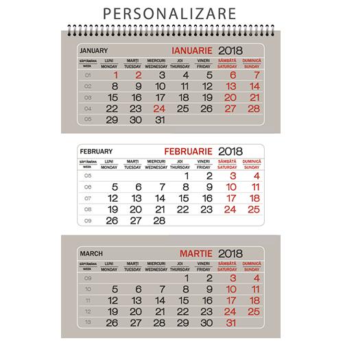 CTP<br> Calendar triptic perete